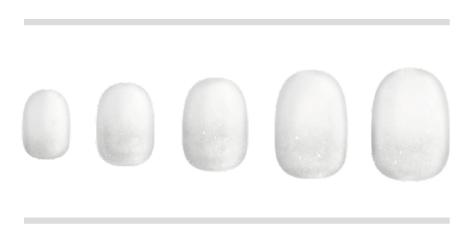 ホワイト×クリア(BASIC×DOREHAL)gradation
