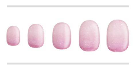 パウダーピンク×ピンクチップイメージ