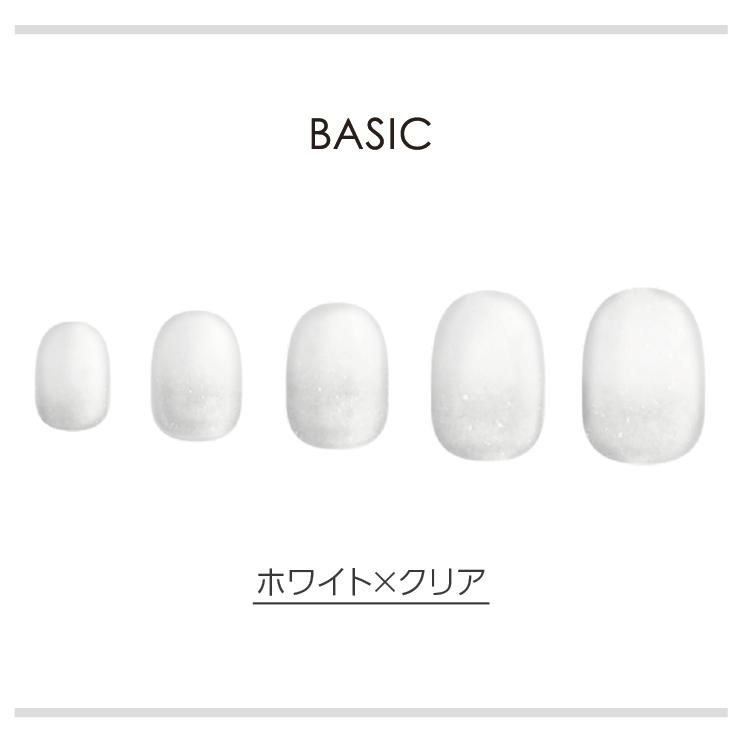 BASIC/ホワイト×クリア ネイルチップイメージ