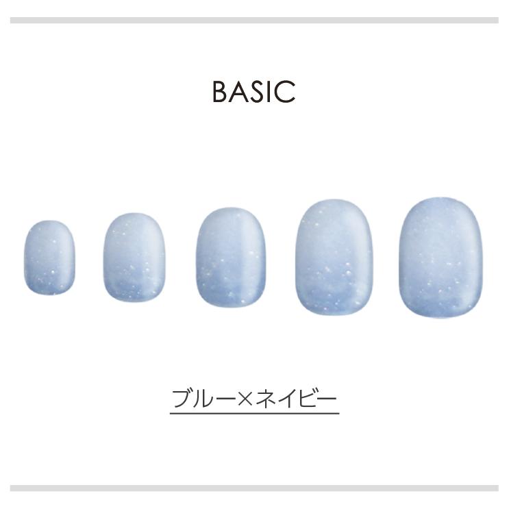 BASIC/ブルー×ネイビー ネイルチップイメージ